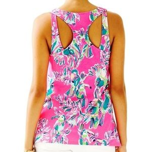 Lilly Pulitzer Monterey Toucan Tank Size Large